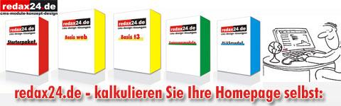 Homepage-Kalkulator von redax24.de